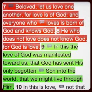 1 John 4:7-9